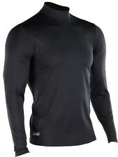 Under Armour MEN'S COLDGEAR INFRARED TACTICAL FITTED Black Mock Shirt 1244393