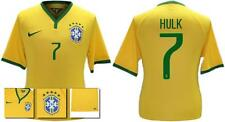 *14 / 15 - NIKE ; BRAZIL PLAYER ISSUE HOME SHIRT SS / HULK 7 = SIZE*