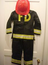 Firefighter Hat Jacket Fire Man Complete Costume Boutique Boys NEW FREE SHIP