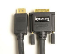 NEW  Outlaw Audio PDH DVI to HDMI Cable Choose Meter Length 1m or 2m