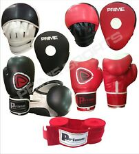10oz boxing gloves focus pads hand wraps bandages fight punch rex leather ufc