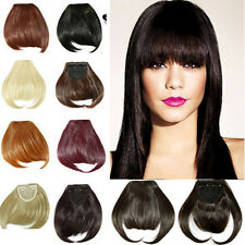 Pretty Girls Clip On Clip In Front Hair Bang Fringe Hair Extension Straight tbn