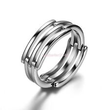 Silver Stainless Steel Love Infinity Symbol Promise Ring Pendant Necklace