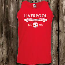 Liverpool mens ladies football vest top ynwa anfield reds woman's men's
