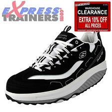 Skechers Shape Up Womens Toning Fitness Trainers Black * AUTHENTIC *