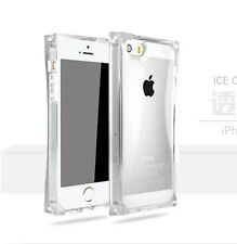 Soft TPU Zenus Flash Ice Cube Back Case Skin Crystal Clear Cover For iPhone 5 5S