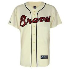 Atlanta Braves MAJESTIC Official MLB Alternate Ivory Replica Jersey YOUTH