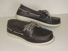 New Crocs Above Deck Leather Boat Shoes Womens SZ 6 7 8 9 10 Brown