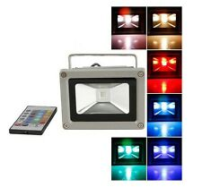 Waterproof 10/20/30W RGB LED Flood light Outdoor Landscape Lamp + Remote Control