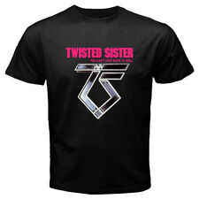 New TWISTED SISTER Rock n Roll Music Legend Men's Black T-Shirt Size S to 3XL