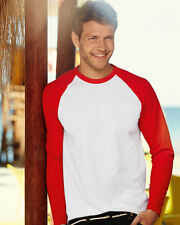 Fruit Of The Loom Long Sleeve Baseball T Shirt - 61028