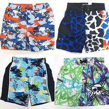 CHILDRENS PLACE Baby Boy 12 18 Mo Swim Shorts Trunks Swimsuit Swimwear Frog Fish
