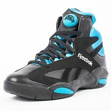 Mens Reebok Pump Shaq Attaq Orlando Magic Sneakers New, Black Blue V55083 $160