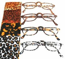 ANIMAL PRINT READING GLASSES CHEATERS SPECS- CHEETAH - GIRAFFE - TIGER - LEOPARD