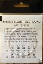 Fly fishing Tapered Leaders 12ft Available in 1X,2X, 3X ,4X,5X,6X