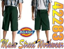 DICKIES BRAND STYLE 42283 13 INCH MULTI POCKET WORK SHORTS LOOSE FIT HUNTER GRN