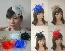 A170 Ladies Sinamay Feather Wedding Bridal Cocktail Hat Fascinator Party