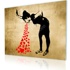 LARGE Canvas Banksy Graffiti Lovesick gallery poster wall art print prints