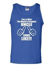 This Is What The World's Greatest Uncle Looks Like Novelty Adult Tank Top