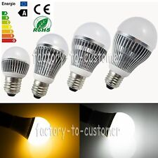 3W 5W 7W 9W 12W 15W E27 E26 LED Globe Bulb Warm Cool White Ball Lamp Spot Light