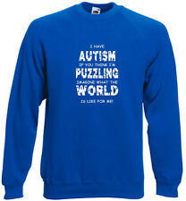 73A. Autism Sweatshirt Hoodie Me Puzzling Imagine What The World Is Like For Me