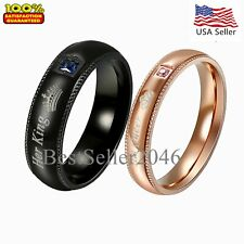 """Stainless Steel """" True Love """" Engagement Promise Ring Couples Wedding Band"""