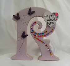 Free standing wooden letter - personalised boy, girl, birthday, Christmas gift