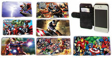 Marvel DC Superhero Leather Wallet Phone cover for Sony Xperia Z,Z1,Samsung Note