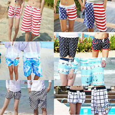 Fashion Mens Womens Lovers Couple Summer Beach Surf Board Swimming Shorts Pants