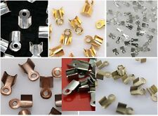 Fold Over Crimp Bead Cap 6-9MM End Findings Gold Silver Copper Bronze PLATED