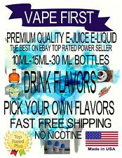 VAPE FIRST TOP SELLER PREMIUM E-LIQUID E-JUICE 10ml-15ML-30ml