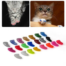 New 20pcs Soft Nail Claws Caps for Pet Cat Paws FREE Glue
