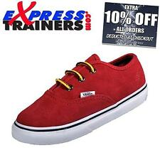 Vans Childs-Infants Authentic Suede Hiker Trainers (Red) AUTHENTIC
