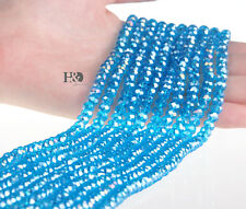 Wholesale 6mm Light Blue Crystal Beads Each Of 100 Flat Bead Xmas Lady Gifts Hot