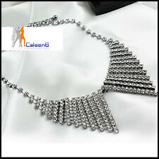 The new complex Guge Te punk fashion shiny diamond butterfly collar necklace