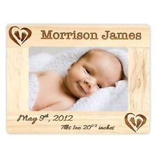 Newborn Birth Announcement Frame Personalized With Name, Stats, Color, and Size
