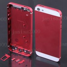 Colorful Replacement Metal Back Battery Housing Cover Hard Case For iPhone 5 5S