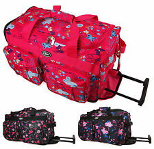"High Quality Small 20"" Womens Girls Cabin Hand Luggage Wheeled Travel Bag Case"