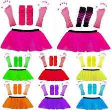 NEON TUTU SET AND ACCESSORIES 1980S SKIRT FANCY DRESS HEN PARTY COSTUME 80s