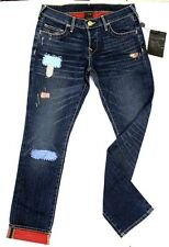 True Religion $298 Women's Rori Vintage Patches Relaxed Straight Brand Jeans