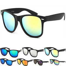Classic Mirrored Wayfarer Sunglasses Cool Shades UV400 Mens Women Unisex