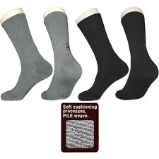 "3 Pairs Mens Thick Trekking Hiking Socks ""Skin contact surface is 100% cotton"" C"