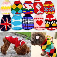 Great Puppy Pet Dog Knitwear Warm Coat Sweater Clothes Apparels for6-24 Cat Dog