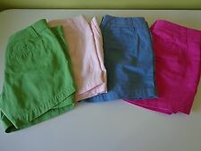 J.Crew Shorts Brand New Pink Red Blue Green Size 6 Free Shipping