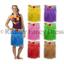 HAWAIIAN GRASS SKIRTS SUMMER HULA ALOHA PARTY GARLAND FANCY DRESS