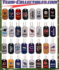 ( 1 ) NFL TEAM  DOG TAG NECKLACE~NFL LICENSED~CHOOSE YOUR TEAM