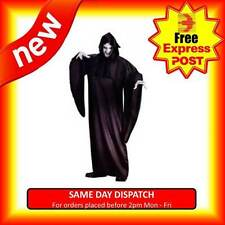 ADULTS DEATH HALLOWEEN COSTUME WITH HOOD SCARY ZOMBIE GHOST FANCY DRESS OUTFIT