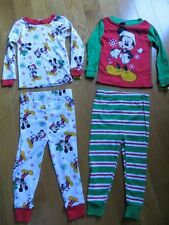 NEW MICKEY MOUSE CLUBHOUSE 4 PIECE SNUG FIT CHRISTMAS PAJAMAS  $38