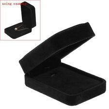 Wholesale Lots Velvet Jewellery Gift Box Necklace Display Rectangle Black
