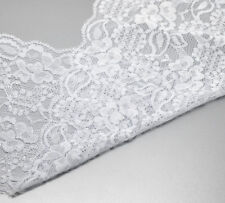 """Wholesale Lots Yards White Stretch Lace Edge Trim 5-7/8"""" wide"""